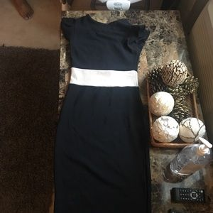 Midi dress very fitted